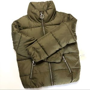 🆕 ALTR'D STATE Army/Olive Green Puffer Coat • Sm